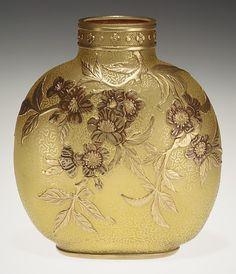 Thomas Webb & Co  Vase 1890 Apple tree bough glass vase