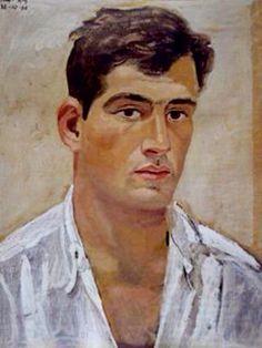 Yannis Tsarouchis (Greek painter P. Figure Painting, Painting & Drawing, Facial, Renaissance Paintings, Greek Art, Gay Art, Portrait Art, Male Portraits, Caravaggio