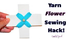 Awesome Flower Hand Embroidery Trick - Sewing Hack - Easy Flower Website Details, Yarn Flowers, Join Facebook, Crochet Videos, Sewing Hacks, Free Crochet, Hand Embroidery, Jewel, Crochet Necklace