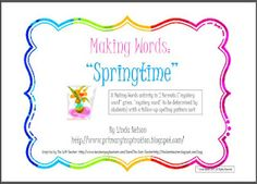 Making Words activities for Spring