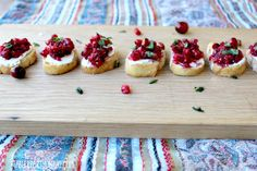 Pomegranate and Cranberry Bruschetta - Tabler Party of Two (IMM #109)