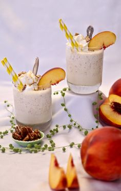 Caramel Peach Buttered Pecan Shake - Presley's Pantry