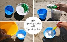 TUTORIAL: Sand and Plaster Beach Molds   MADE