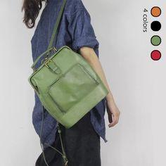 Women's full grain leather shoulder bag doctor bag school bag S920