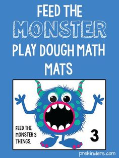 These monster play dough math mats will fit right in with your Halloween activities. I like this fuzzy, non-scary, kid-friendly monster -- so cute! To make the mats, print them out and either laminate them or Monster Activities, Playdough Activities, Halloween Activities, Monster Classroom, Math Classroom, Kindergarten Math, Preschool Activities, Counting Activities, Therapy Activities