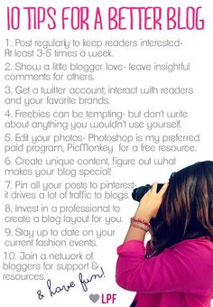 La Petite Fashionista: 10 Tips for a Better Blog