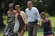 Pin for Later: You'll Want to Shop Every Single 1 of Malia Obama's Sundresses For Summer  Wearing a breezy black and white polka-dot dress.
