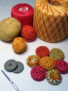 Coisas pra divulgar: Botões forrados em croché