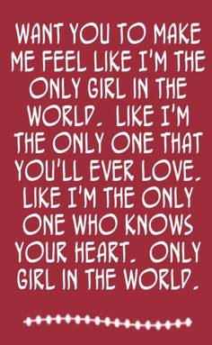 Rihanna - Only Girl (In The World) - song lyrics, song quotes, songs, music lyrics, music quotes,