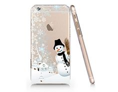 Cute Snowman Merry Christmas Clear Transparent Plastic Phone Case for iphone 6 6s_ SUPERTRAMPshop (VAS389) SUPERTRAMPshop