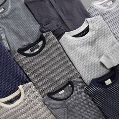 Patterns and structures feature heavily this season. Work them into your knitwear, shirt and T-shirt wardrobe. Cotton Sweater, Men Sweater, Fair Isle Knitting Patterns, Men Photography, Mens Fashion Blog, Mens Essentials, Lacoste Men, Men Design, Winter Warmers