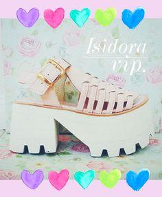 Isidora Vip Super High, charoladas en rosa pastel!