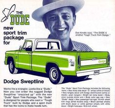 Don Knotts Tribute: to Barney Fife; the dude truck by Dodge with sport pkg.