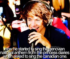 I just appreciate the fact that he's seen The Princess Diaries. :)