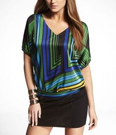 Another purchase! ELASTIC SLEEVE BANDED BOTTOM DOLMAN BLOUSE at Express