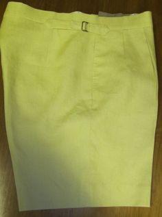 Yellow linen bepsoke shorts