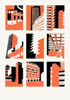 New Screen Printing Artist Illustrations Ideas Screen Print Poster, Poster Prints, Linocut Prints, Architecture Artists, Architecture Posters, Architecture Illustrations, Architecture Panel, Posca Art, Linoprint