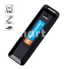 Keychain Digital Voice Recorder Pen with U Disk/TF Function Black,$9.99