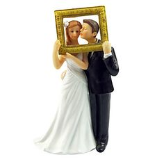 "Cake Toppers ""Fall In Love"" Bride & Groom  Cake Topper – USD $ 10.19"