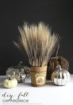 Check out this lovely fall wheat centerpiece with a video tutorial to show you how to make it! Check out this lovely fall wheat centerpiece with a video tutorial to show you how to make it! Wheat Centerpieces, Halloween Decorations, Table Decorations, Thanksgiving Diy, Fall Diy, Autumn Inspiration, Winter Holidays, Favorite Holiday, Fall Crafts