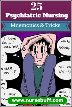 To help you understand #psychiatric #nursing in an easy way, here are some of the most awesome #mnemonics and #tricks that you should know now: http://www.nursebuff.com/2014/09/psychiatric-nursing-mnemonics/
