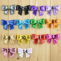 40pcs/lot 2'' Mini Sequin Bows Knot Bow Applique Embroideried Boutique Sequin Hair Bows For Baby