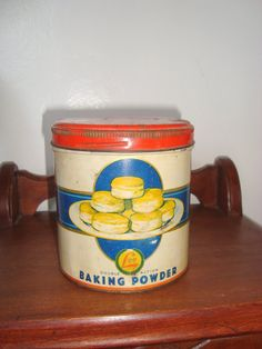 Antique H.D. Lee Baking Powder Tin 1lb 9ou by SofiasCobwebMuseum