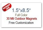 "1.5x8.5 Custom Magnets | 1.5"" x 8.5"" Refrigerator Magnets 