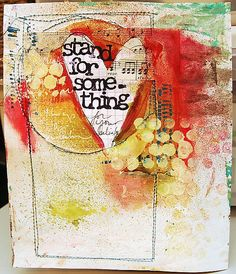 art journaling background - love this