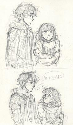 Oreki and Chitanda | by Burdge | Hyouka | Anime