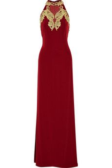 Mikael Aghal Embellished crepe gown | THE OUTNET