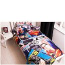 Character World Batman v Superman Clash Bed Bundle - Single The Batman v Superman Clash Bed Bundle features artwork of the eponymous DC Comics characters from the Dawn of Justice film. The bedding set, which includes a single duvet cover with pillowcase, a fle http://www.MightGet.com/january-2017-11/character-world-batman-v-superman-clash-bed-bundle--single.asp