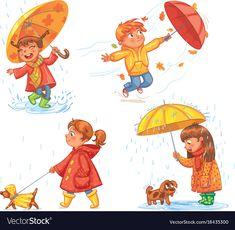 Love Autumn Walk On Outdoors Children Stock Vector (Royalty Free) 360541694