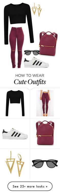 """""""Cute yet cozy casual outfit!"""" featuring adidas and Sophie Hulme College Outfits, Outfits For Teens, Trendy Outfits, Winter Outfits, Summer Outfits, Cute Outfits, Sophie Hulme, Teen Fashion, Fashion Outfits"""