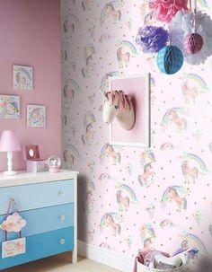 unicorn glitter bedroom rooms rainbow childrens