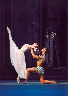 "Svetlana Zakharova and Sergey Filin in Marius Petipa's ""The Pharaoh's Daughter""...performed by the Bolshoi Ballet Academy..."