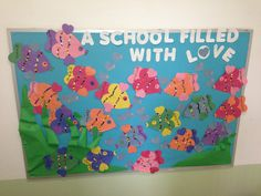 Valentine Day Preschool Bulletin Board Ideas Xldcs Beautiful Valentine S Day Bulletin Board Ideas Fish Bulletin Boards, February Bulletin Boards, Office Bulletin Boards, Valentines Day Bulletin Board, Reading Bulletin Boards, Spring Bulletin Boards, Preschool Bulletin Boards, Unique Bulletin Board Ideas, Preschool Activities
