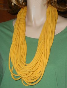 DIY:  Layered fabric necklace out of a t-shirt!