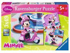 Ravensburger Puzzle - Disney Minnie (3X49pcs) (09338)  Manufacturer: Ravensburger Enarxis Code: 016018 #toys #puzzle #Ravensburger #Disney #Minnie