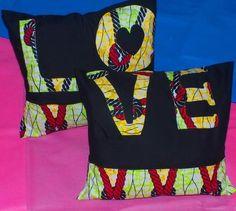 Z Range- Love Cushion cover set #Ankara #pillows#cushioncovers #cushion #covers #homeware #decor #interior #African #print #love