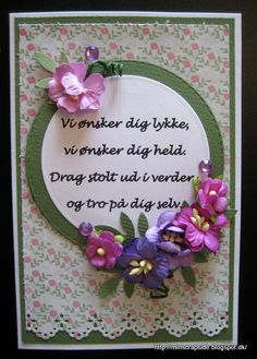 Min scrapside: Konfirmationskort Letting Go Quotes, Smiley, Quilling, Funny, Diy And Crafts, Singing, Scrapbook, Cards, Gifts