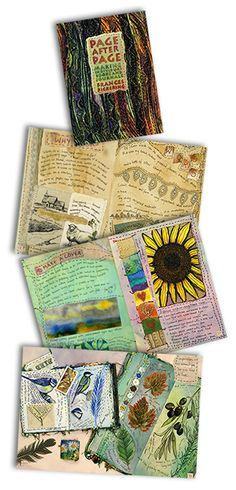 Page After Page: Making Individual Books and Journals by Frances Pickering Artist Journal, Book Journal, Fabric Journals, Art Journals, Textiles Sketchbook, Fabric Art, Fabric Books, Collage, Mixed Media Journal
