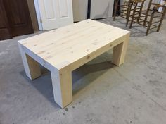 Coffee table. Not stained