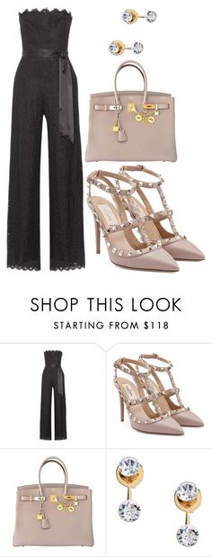 """Untitled #178"" by blackismyobsession ❤ liked on Polyvore featuring Rachel Zoe, Valentino, Hermès and CA&LOU"