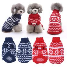 Fashion Pet Dog Cat Warm Clothes Dog Christmas Sweaters Snow Festive Apparel Coat Puppy Kitten Clothes for Dogs Cats Kitty 1pcs(China (Mainland))