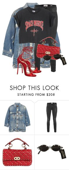 """Untitled #3639"" by xirix ❤ liked on Polyvore featuring R13, Frame Denim, Valentino, Jean-Paul Gaultier and Dsquared2"