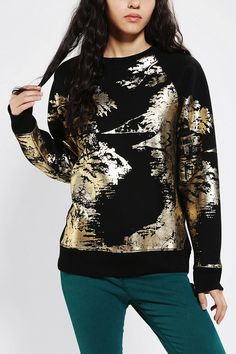 Gold Foil Sweatshirt