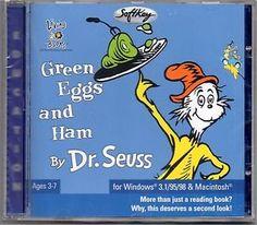 CD-ROM Living Books. Dr Seuss - Green Eggs and Ham