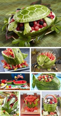 62 ideas fruit platter watermelon edible arrangements for 2019 Cute Food, Good Food, Yummy Food, Awesome Food, Food Carving, Snacks Für Party, Party Trays, Food Decoration, Fruit Decorations