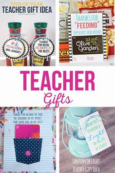 Teacher Gifts :    Fun and simple teacher gift ideas that won't break the bank. Free printable teacher gift tags. Gifts for teacher appreciation, end of the year, holidays and birthdays. #teachergifts #teacherappreciation #freeprintables